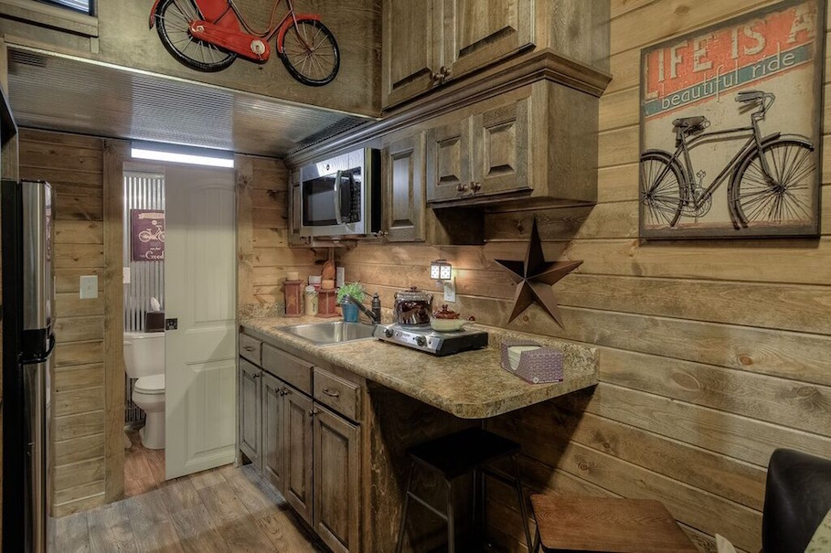 Tiny House Town Cabin Style Shipping Container Home
