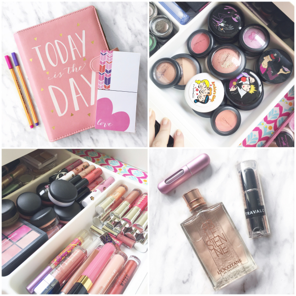 bbloggers, bbloggersca, canadian beauty bloggers, instagram, instamonth, ikea vanity, micke desk, stodja drawers, travalo, eccolo planner, mac, makeup organizing