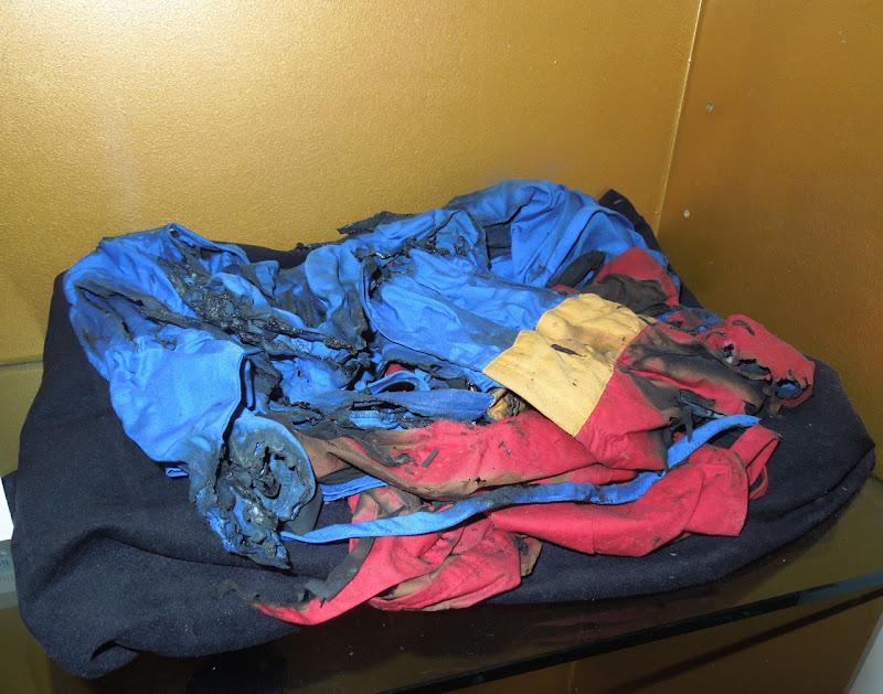 Hollywoodland burnt Superman suit prop