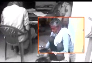 A cobbler, Sittu, 50, who had lost his mobile ended up shining shoes at a police station in Charthawal,  Muzaffarnagar at Uttar Pradesh.   The cops instead of registering his complaint made him sit on the floor and polish their shoes. They had reportedly told the cobbler that they would take his complaint only if he made their shoes shine.