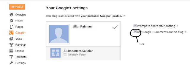 google plus comment system