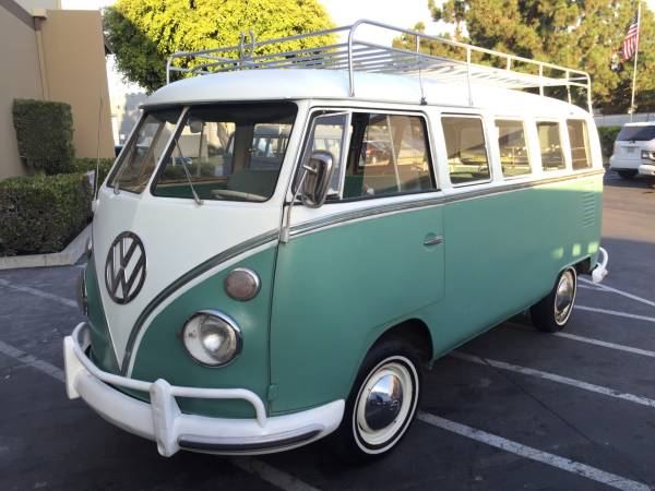 1964 vw bus deluxe 13 window vw bus wagon. Black Bedroom Furniture Sets. Home Design Ideas