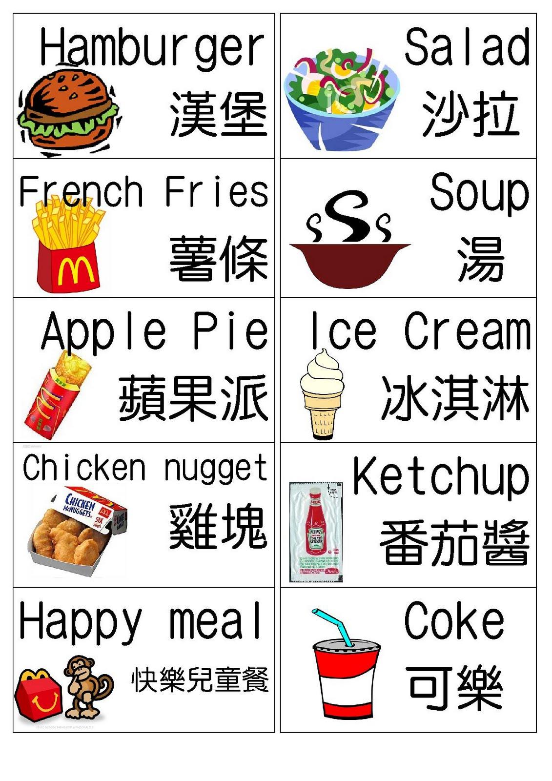 達觀國小 - 英語推廣: 2011.9.21 情境教學(麥當勞點餐)