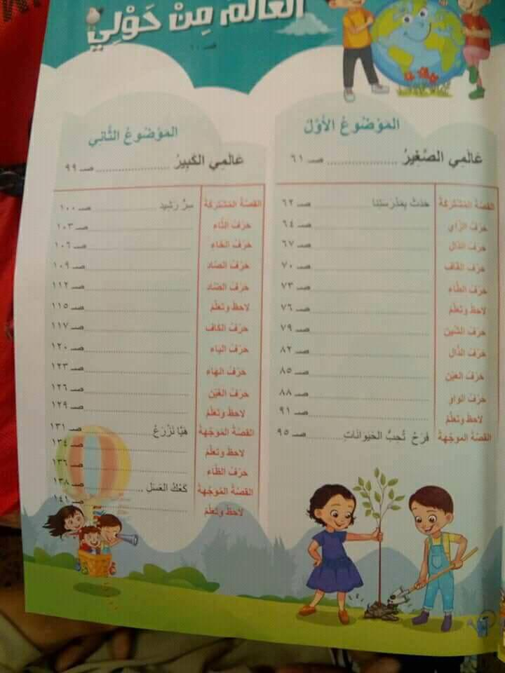 كتاب الوزارة لغة عربية منهج جديد الصف الأول الإبتدائي 2018-2019