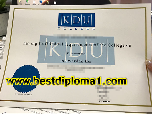 KDU College diploma fake