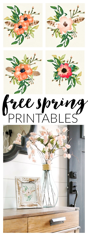 Free spring poppy printables
