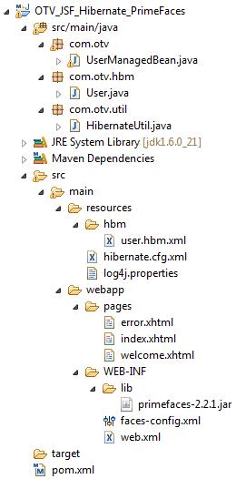 JSF - PrimeFaces & Hibernate Integration Project | Java Code