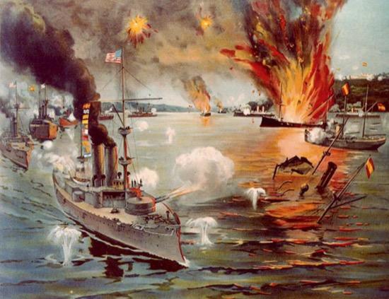 Batalla naval de Cavite, Filipinas, 1 de mayo de 1898