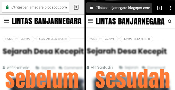 Cara mengubah warna address bar blog