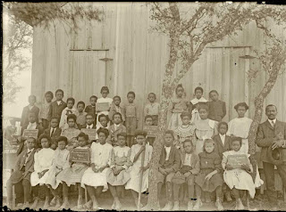 The students of the Cabbage Hill school, Kerrville