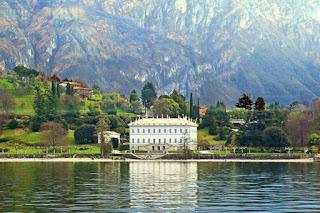 Salah satu villa di tepi Danau Como, Italia Utara./Foto/CNN/