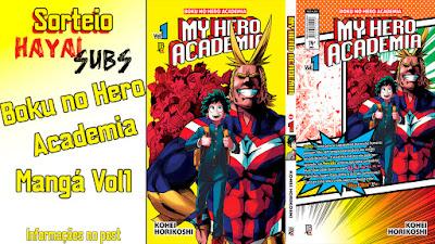 Sorteio Mangá - Boku no Hero Academia Vol1