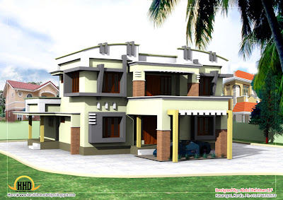 Duplex House Elevation - 263 Sq M (2830 Sq. Ft) - January 2012