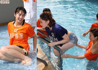 skinny Asian dipping girls