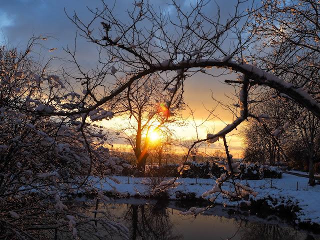 zonsondergang winter