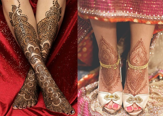 Bridal Mehndi Henna Foot Designs