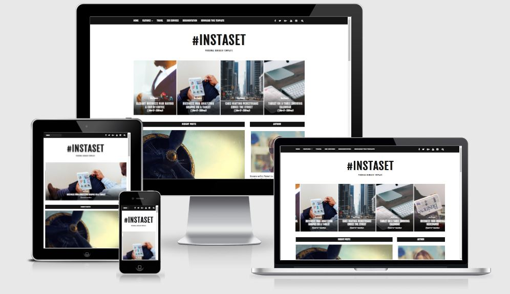Instaset Template Free Download