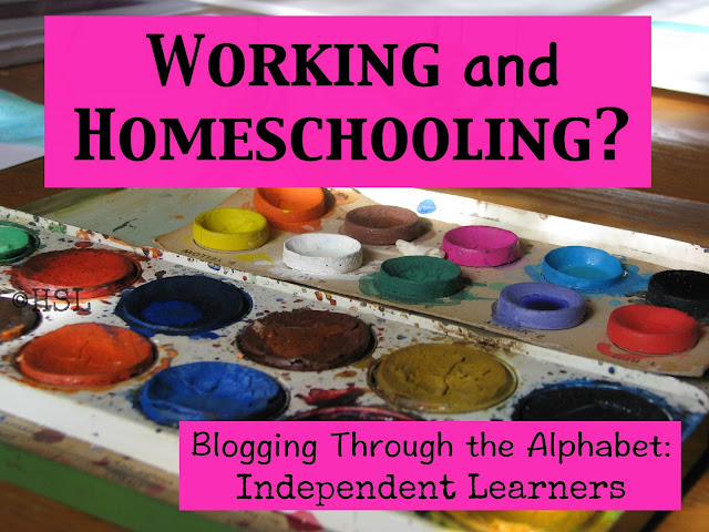 Independent Learners, working and homeschooling, blogging the alphabet