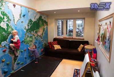 world map wall decor, world map wall art, world map wallpaper for kids room