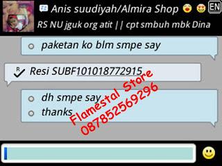 Nomor resi pengiriman barang ke Ibu Anis Suudiyah