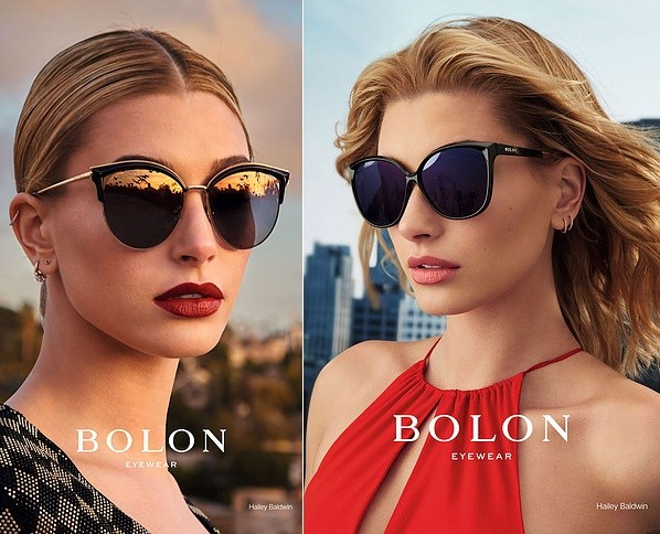 Model Hailey Baldwin looks smart in Bolon Eyewear campaign