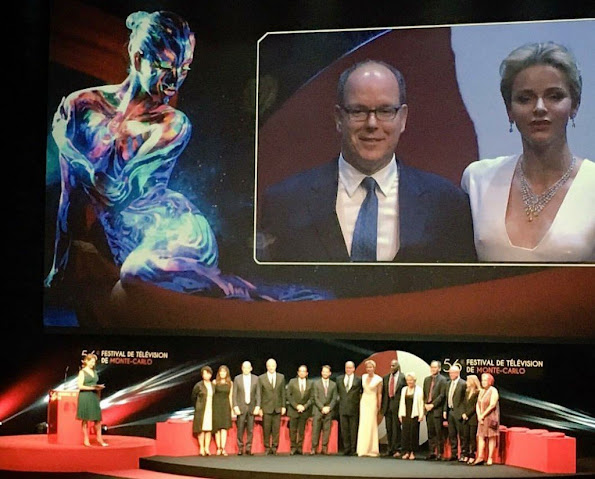 Prince Albert II of Monaco and Princess Charlene of Monaco attend the opening ceremony of the 56th Monte Carlo Television Festival