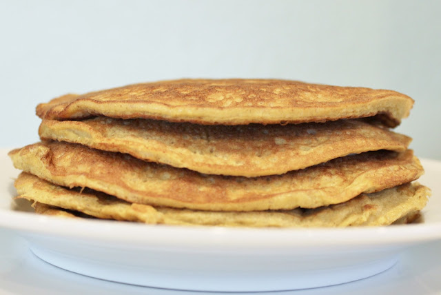Low Carb Eggnog Pancake Stack