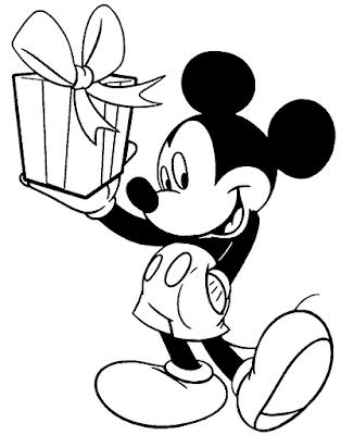 Gambar Mewarnai Mickey Mouse - 2