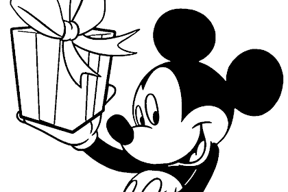 Mewarnai Gambar Kartun Mickey Mouse