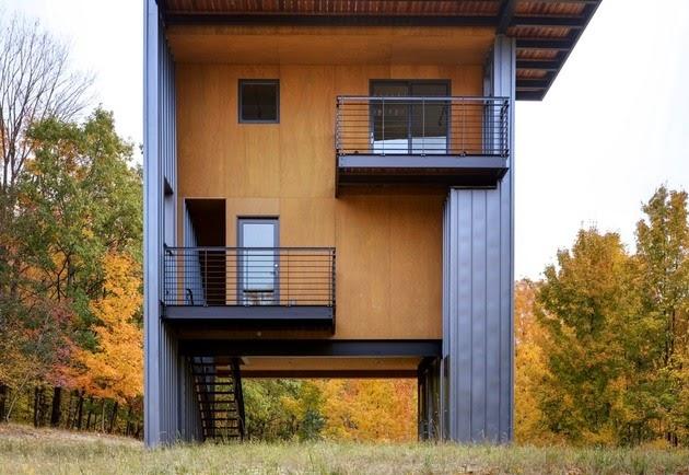 Rumah Vertikal 4 Lantai Sempit dan Tinggi - Rancangan