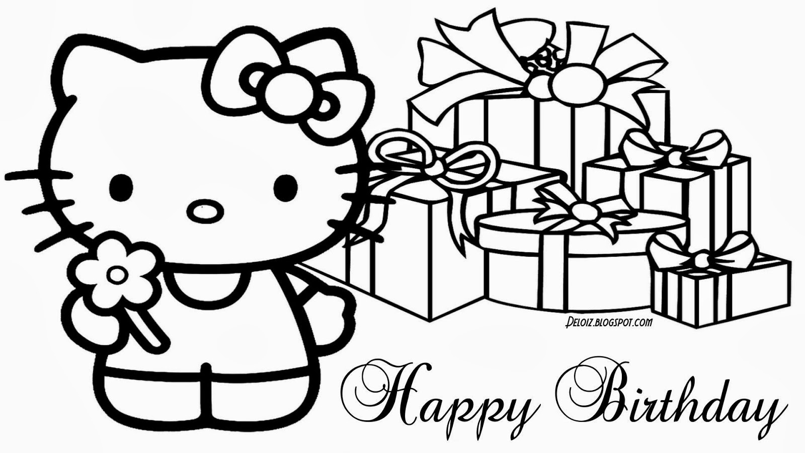 Ashley Wallpaper Gambar Hello Kitty Untuk Diwarnai