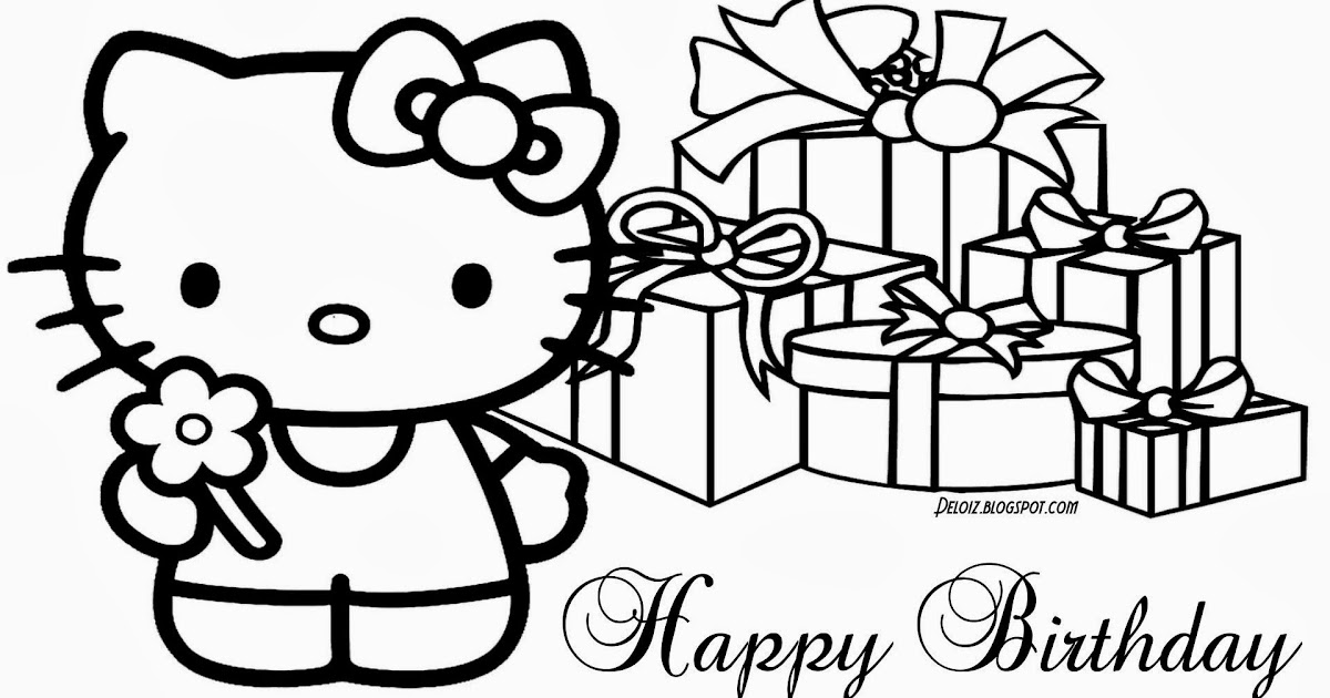 19 Koleksi Cemerlang Gambar Hello Kitty Yg Belum Diwarnai