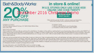 Bath And Body Works coupons december 2016