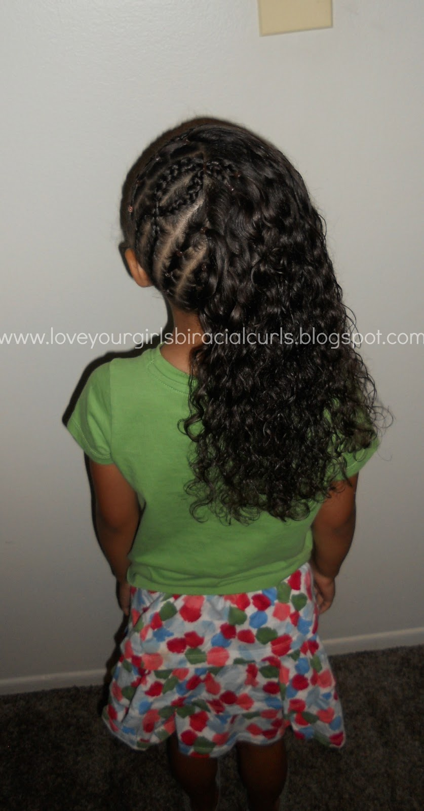 love your girls biracial curls: cute school hair style for girls