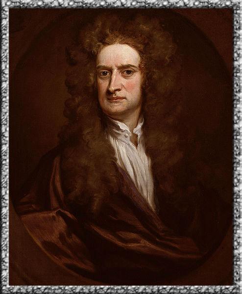 Foto Newton pada tahun 1702