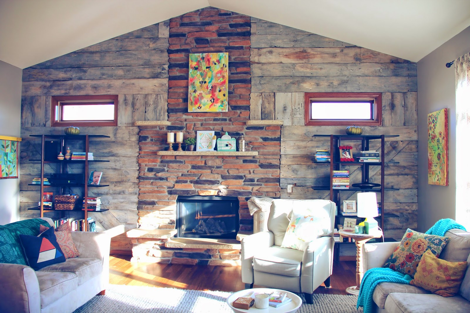I Thought It Would Be Fun To Show You More Details Shots Of Our Living Room Today We Are Loving The New Barnwood Wall And Freshly Painted Gray Walls