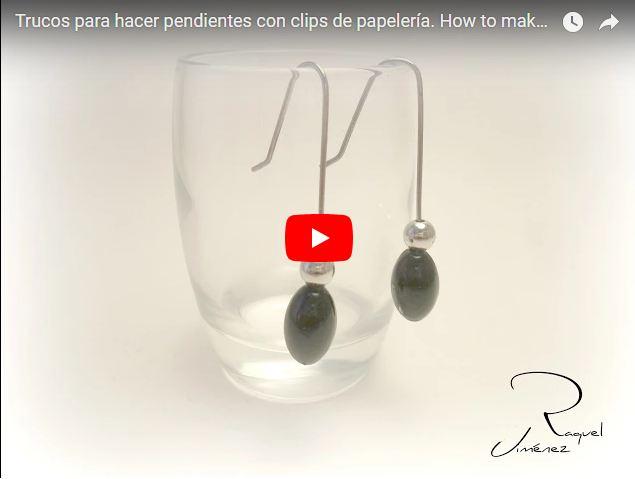 diy pendientes reciclando clips