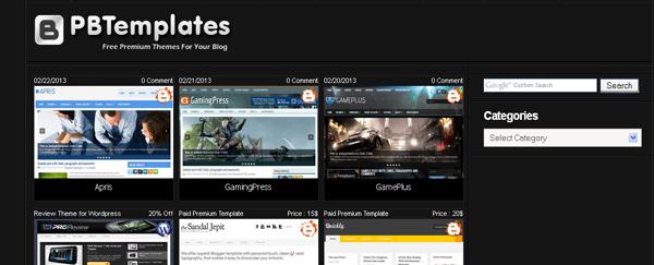 أفضل المواقع لتحميل القوالبPremium Blogger Templates