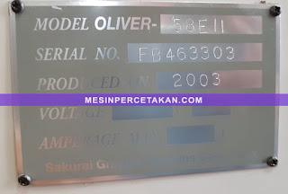 OLIVER 58E2 serial number