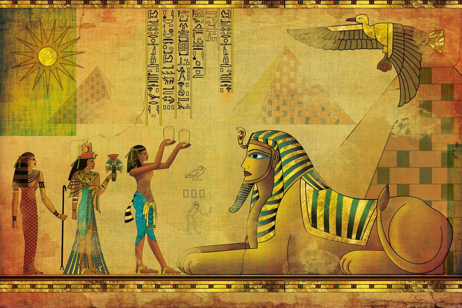 World wildness web ancient egypt wallpapers for Egyptian wallpaper mural