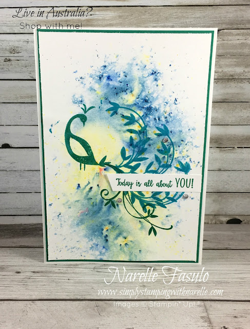 Beautiful Peacock - FREE stamp set with a qualifying order until arch 31, 2018 - https://www3.stampinup.com/ECWeb/product/147239/beautiful-peacock-photopolymer-stamp-set?dbwsdemoid=4008228