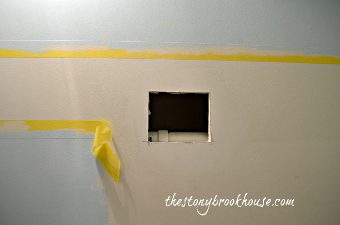 Dry wall cut out to patch hole