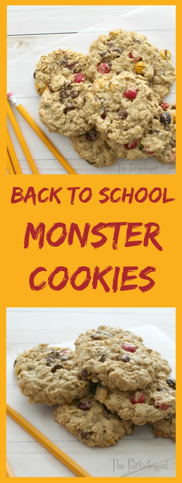 The Partiologist: Back to School Monster Cookies!
