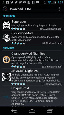 rom manager download terbaru