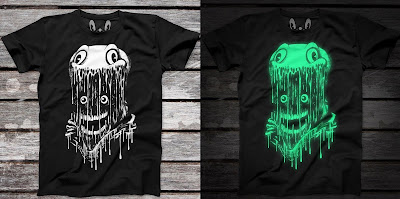 The Astronaut Darkness Edition Glow in the Dark T-Shirt by Alex Pardee x 3DRetro