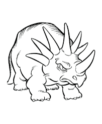 The Latest Of Triceratops Coloring Pages