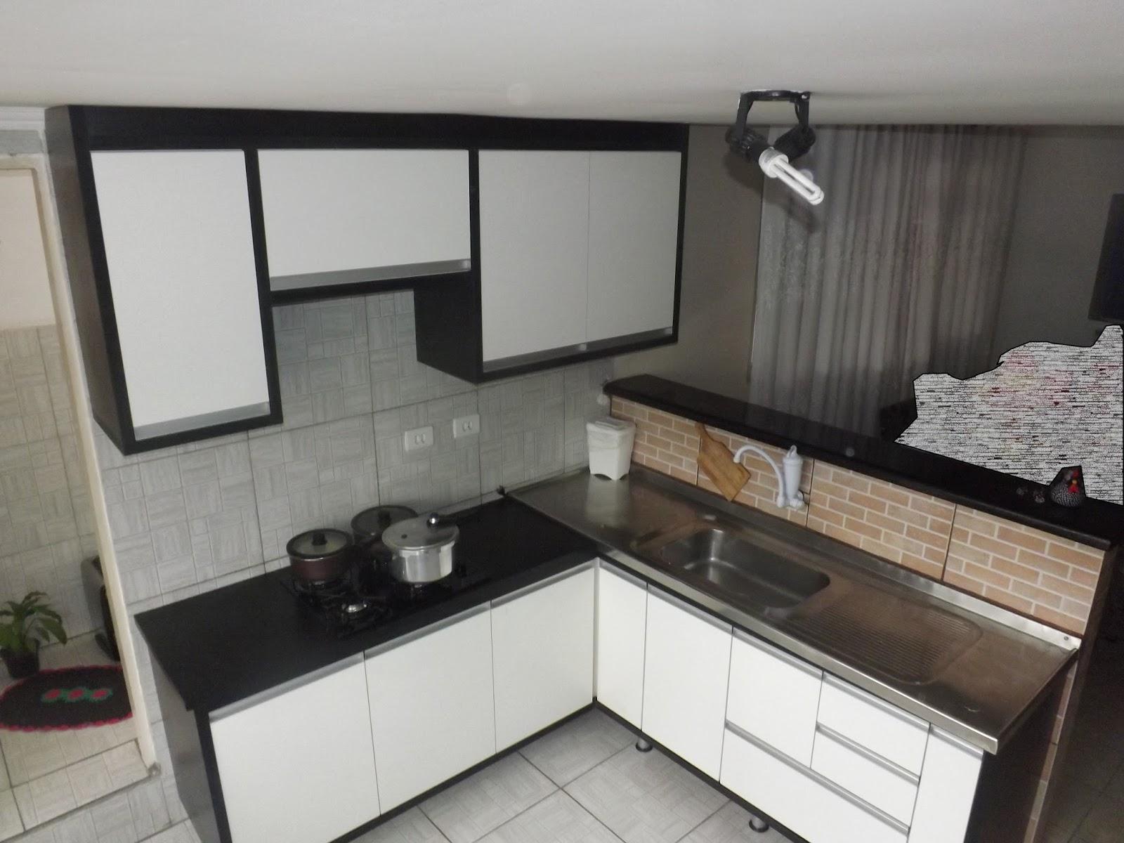 Cozinha Planejada Preta E Branca Pequena Oppenau Info