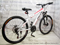Sepeda Gunung Pacific Revolt 3.0 21 Speed 26 Inci White Red