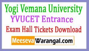 Yogi Vemana University YVUCET Entrance Hall Tickets Download 2017