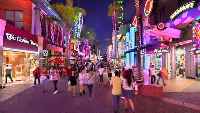 Parque Universal Studios Hollywood em Los Angeles CityWalk
